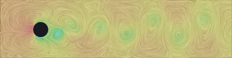 Karman vortex sheet